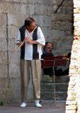 clarinettiste à San Giminiano