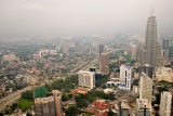 View to the KL Twin Towers from Menara KL