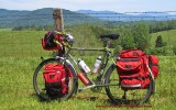 411    Rob touring Virginia - Surly Long Haul Trucker touring bike
