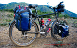 436    Nicole touring Chile - Patria Terra touring bike