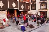 Outside Jokhang temple, Lhasa