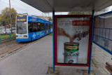 Krakow tram billboard