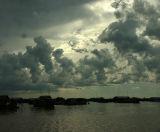 Sunset on the Tonle Sap, Cambodia