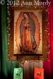 Guadalupe Altar with Farolitos