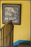 The blue and yellow staircase