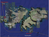 Route Map for Falkland Islands