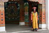Monk in ceremony dress
