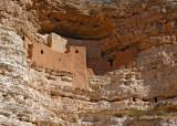 Montezuma Castle, Arizona. Prehistoric cliff dwellings of the Sinagua culture for 400 years.