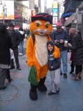 Puss 'n' Boots was hanging around in Times Square