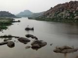Tungabadhra River crossing