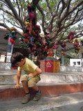 At a temple in a local village