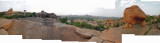 View of Hampi from atop rocks behind temple (11 Nov 2012)