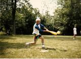 Bill playing Eggball.  (c. 1985)