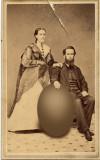 Sylvanus Landrum and Elizabeth Jane Warren ... and egg.  (c. 1876)