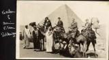 Scott ancestors -- and egg baggage -- abroad.  (c. 1900)