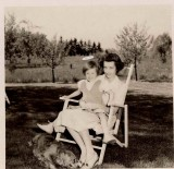 Elise Scott and exonerated daughter Mary.  (c. 1946)