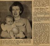 Young Baylor Landrum III and egg companion.  (c. 1950)