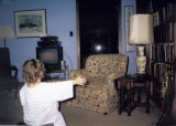 Old photograph of egg stain spot in Pelican Lane house.  (c. 1978)