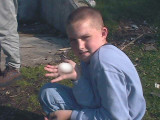 Andrew with egg.