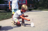 Stephen launches an eggrocket.