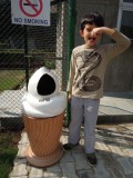 Stinky trash can!
