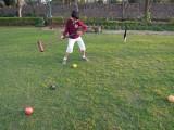 First croquet game.
