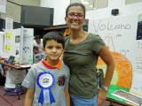 Rahil and his first grade teacher, Mrs. Langbauer