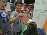 DSCN6175 first grade science fair.jpgScience fair project:  Volcano!  Step 5:  pour ...