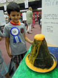 Science fair project:  Volcano!  Step 6:  success!