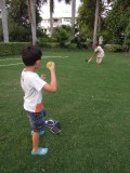 Playing cricket with Anna