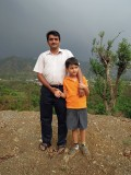 Raju and Rahil at the site