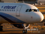Interjet 320 at dusk