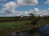 Train passing the Lough Owel feeder