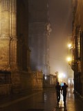 Misty evening outside the Cathedral