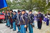 raising the colors Veteran's Day Parade 2012