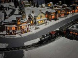 A train on the Christmas layout