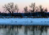 Winter Sunset on the Missouri River