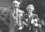 George and Mary Tull celebrating their 60th wedding anniversary in 1959.