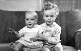 Trevor and Roger - Christmas 1948.
