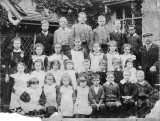 Wilfred and  Charles Bailey front row 3 and 4 from the right