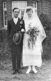 Wilfred James Bailey and Flora Tull wedding 1922. My fathers parents.