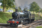 9351 leaves Crowcombe for Bishops Lydeard tender first.