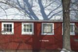 Winter farm building
