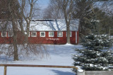 Winter Farm Building setting