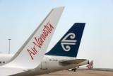 Air Vanuatu winglet with Air New Zealand (ZK-OJF)