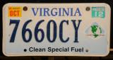 Virginia License Plate - Clean Special Fuel