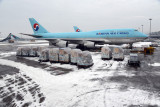 Winter day on the cargo apron at Incheon