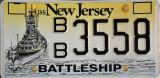 Battleship New Jersey License Plate
