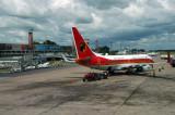 Angola Airways B737 (D2-TBK), Lusaka, Zambia