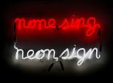 Bruce Nauman, None sing neon sign 1970